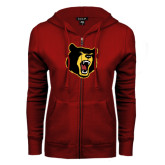 ENZA Ladies Cardinal Fleece Full Zip Hoodie-Bear Head