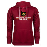 Adidas Climawarm Cardinal Team Issue Hoodie-Bloomfield College Bears Stacked