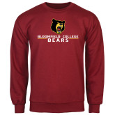 Cardinal Fleece Crew-Bloomfield College Bears Stacked