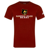 Adidas Cardinal Logo T Shirt-Bloomfield College Bears Stacked