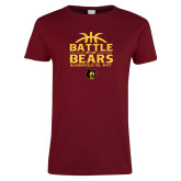 Ladies Cardinal T Shirt-Battle of the Bears