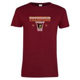 Ladies Cardinal T Shirt-2018 Mens Regular Season Basketball Champions