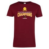 Ladies Cardinal T Shirt-2018 Womens Regular Season Basketball Champions