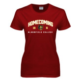 Ladies Cardinal T Shirt-2016 Homecoming Arched