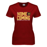 Ladies Cardinal T Shirt-2016 Homecoming Stacked Distressed