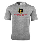 Performance Grey Heather Contender Tee-Bloomfield College Bears Stacked