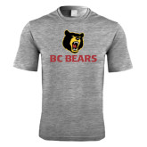 Performance Grey Heather Contender Tee-BC Bears Stacked