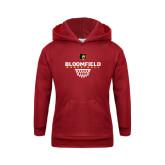 Youth Cardinal Fleece Hoodie-Basketball Sharp Net Design
