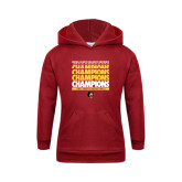 Youth Cardinal Fleece Hoodie-Mens Basketball Champions Stacked