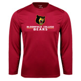 Syntrel Performance Cardinal Longsleeve Shirt-Bloomfield College Bears Stacked