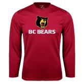 Syntrel Performance Cardinal Longsleeve Shirt-BC Bears Stacked