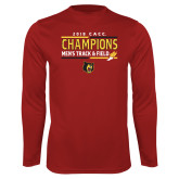 Performance Cardinal Longsleeve Shirt-2018 CACC Mens Track and Field Champions