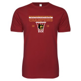 Next Level SoftStyle Cardinal T Shirt-2018 Mens Regular Season Basketball Champions