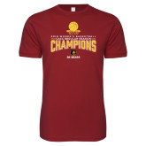 Next Level SoftStyle Cardinal T Shirt-2018 Womens Regular Season Basketball Champions