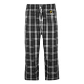 Black/Grey Flannel Pajama Pant-BC Bears Stacked