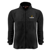 Fleece Full Zip Black Jacket-BC Bears Stacked