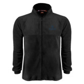 Fleece Full Zip Black Jacket-Primary Mark Tone