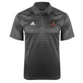 Adidas Climalite Charcoal Jaquard Select Polo-Primary Mark