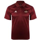 Adidas Climalite Cardinal Jaquard Select Polo-Primary Mark