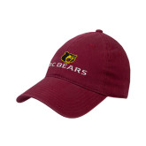 Cardinal Twill Unstructured Low Profile Hat-BC Bears Stacked
