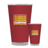 Full Color Glass 17oz-Mens Basketball Champions Stacked