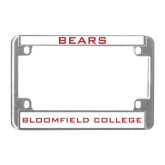 Metal Motorcycle License Plate Frame in Chrome-Bears
