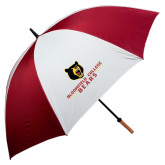 62 Inch Cardinal/White Umbrella-Bloomfield College Bears Stacked