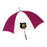 62 Inch Cardinal/White Umbrella-Bear Head