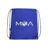Nylon Royal Drawstring Backpack-MOA Letters Only