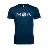 Next Level SoftStyle Navy T Shirt-MOA Letters Only