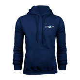 Navy Fleece Hoodie-MOA Letters Only