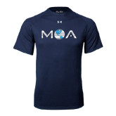 Under Armour Navy Tech Tee-MOA Letters Only
