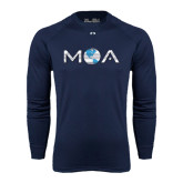 Under Armour Navy Long Sleeve Tech Tee-MOA Letters Only