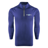 Under Armour Navy Tech 1/4 Zip Performance Shirt-MOA Letters Only
