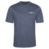 Performance Navy Heather Contender Tee-MOA Letters Only