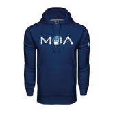 Under Armour Navy Performance Sweats Team Hoodie-MOA Letters Only