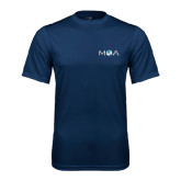 Performance Navy Tee-MOA Letters Only