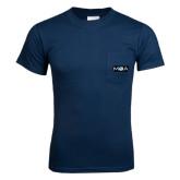 Navy T Shirt w/Pocket-MOA