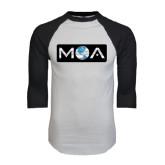 White/Black Raglan Baseball T-Shirt-MOA