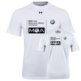 Under Armour White Tech Tee-BMW MOA