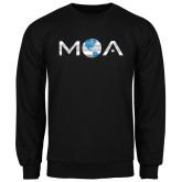 Black Fleece Crew-MOA Letters Only