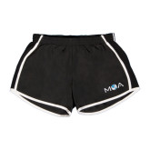 Ladies Black/White Team Short-MOA Letters Only