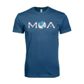 Next Level SoftStyle Indigo Blue T Shirt-MOA Letters Only