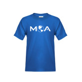 Youth Royal T Shirt-MOA Letters Only