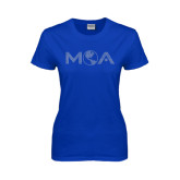 Ladies Royal T Shirt-MOA Letters Only Rhinestones