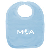Light Blue Baby Bib-MOA Letters Only