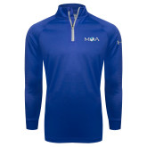 Under Armour Royal Tech 1/4 Zip Performance Shirt-MOA Letters Only