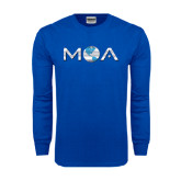 Royal Long Sleeve T Shirt-MOA Letters Only