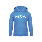 Youth Light Blue Fleece Hoodie-MOA Letters Only