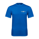 Performance Royal Tee-MOA Letters Only